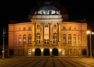Chemnitz Opera at night